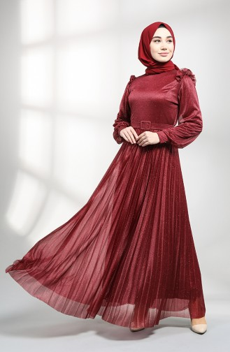 Damson Islamic Clothing Evening Dress 1009-06