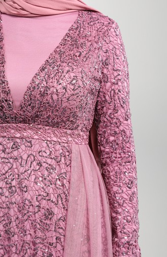 Beige-Rose Hijab-Abendkleider 5390-01