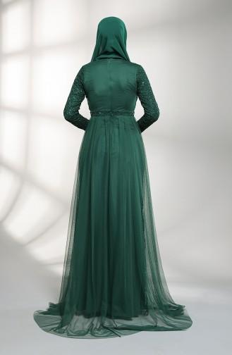 Emerald Islamic Clothing Evening Dress 5390-06