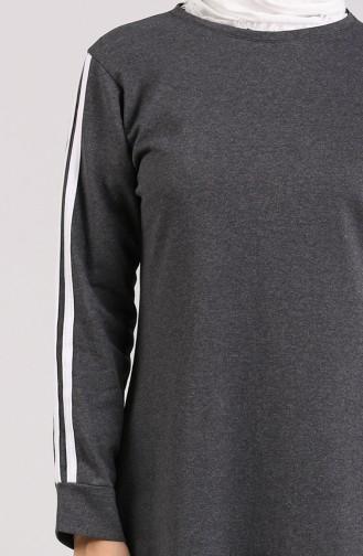 Rauchgrau Hijap Kleider 3700-01