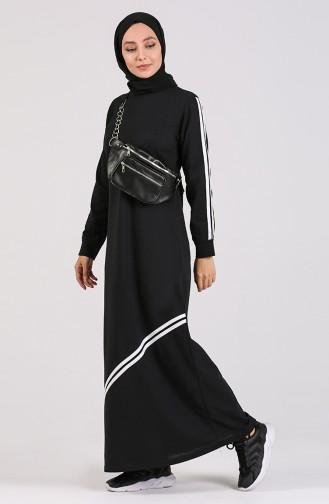 Black İslamitische Jurk 3700-03