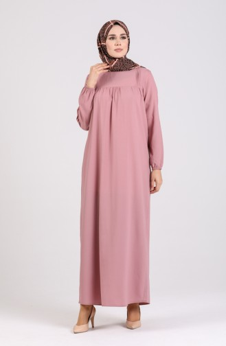 Robe Hijab Rose Pâle 200917-02