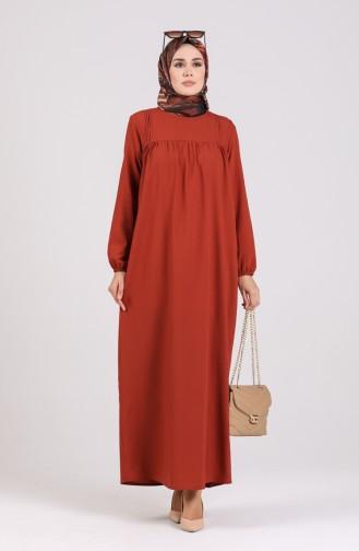 Robe Hijab Couleur brique 200917-03