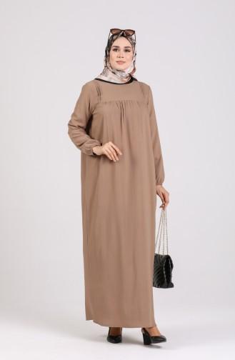 Beige İslamitische Jurk 200917-04