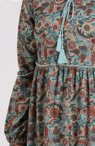 Robe Hijab Pétrole 8149-04