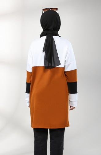 Printed Sports Tunic 8272-10 Cinnamon Color 8272-10