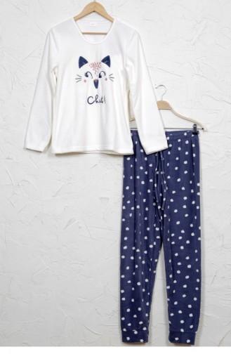 Weiß Pyjama 8041971870.BEYAZ