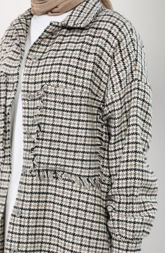 قميص بني مائل للرمادي 6169-03