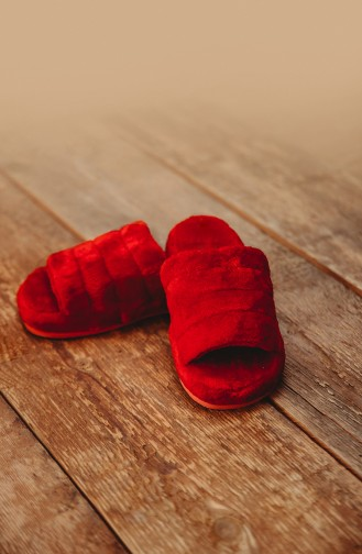 Red Woman home slippers 0001-01