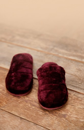 Claret red Woman home slippers 0002-01