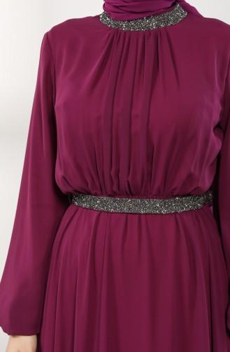 Zwetschge Hijab-Abendkleider 5339-11