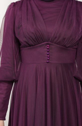 Damson Islamic Clothing Evening Dress 5387-01