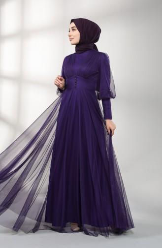 Lila Hijab-Abendkleider 5387-08