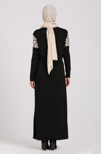 Schwarz Hijap Kleider 5097-09
