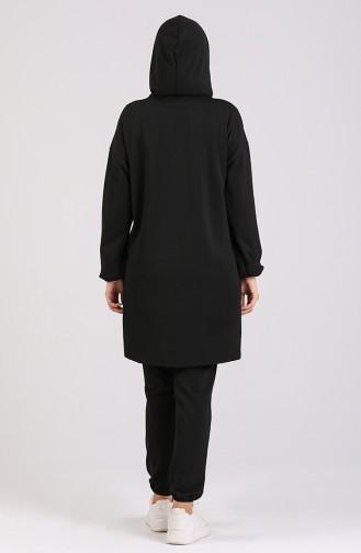 Scuba Tunik Pantolon İkili Takım 0919-02 Siyah