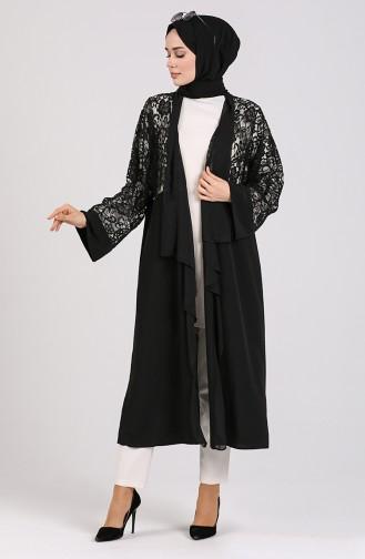 Dantelli Abaya 0070-01 Siyah