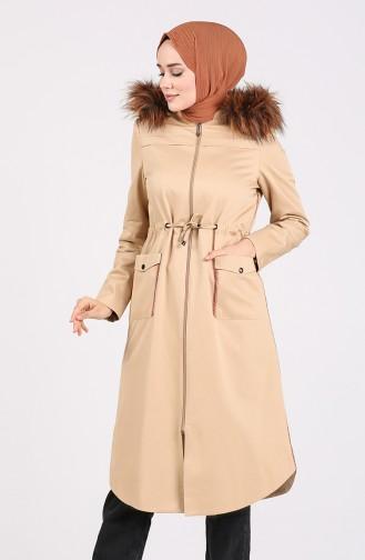 Beige Coats 4921-01