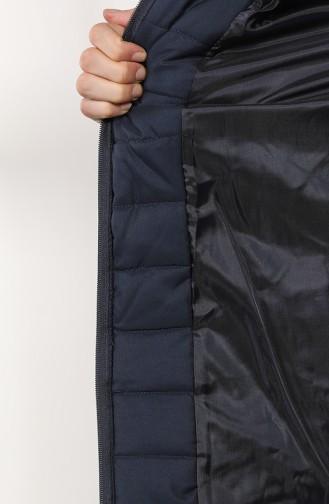 معطف أزرق كحلي 0811-01