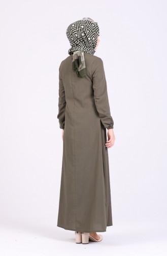 A Pleat Dress 1426-01 Khaki 1426-01