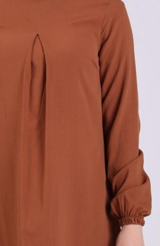 A Pleat Dress 1426-03 Cinnamon Color 1426-03