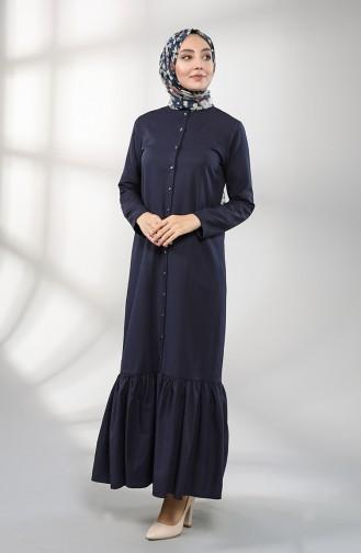 Dunkelblau Hijap Kleider 3201-06