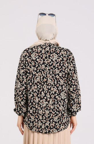 Black Overhemdblouse 1061-02