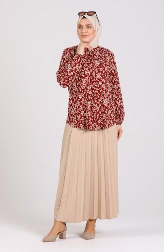 قميص أحمر كلاريت 1061-03