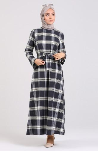 Dunkelblau Hijap Kleider 1430-01
