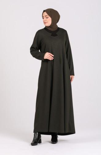 Khaki Hijap Kleider 4739-05