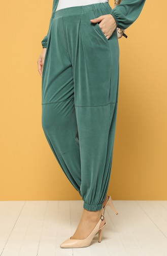 Modal Fabric Elastic Trousers 2185-03 Green 2185-03