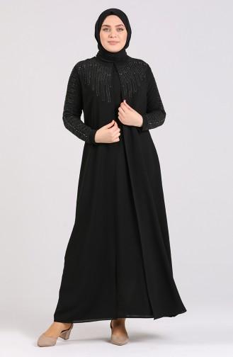 Black İslamitische Jurk 5080-01