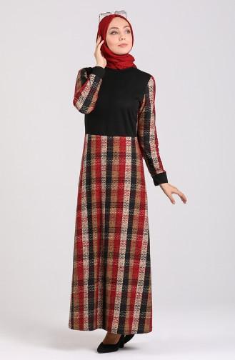 Claret red Dress 0060-02