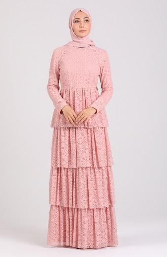 Dantelli Elbise 60196-01 Pudra