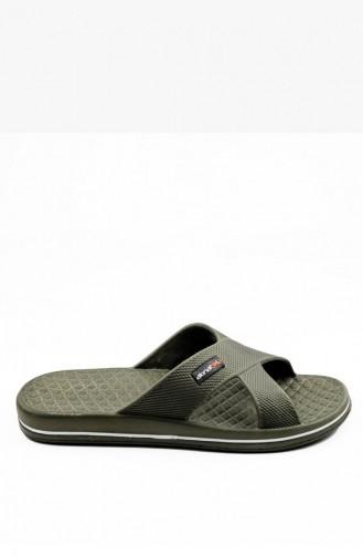 Khaki Summer slippers 1507.MM HAKI
