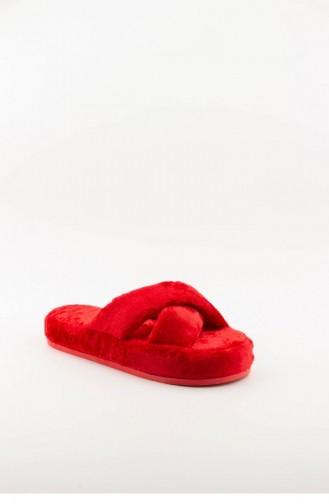 Red Woman home slippers 3576.MM KIRMIZI