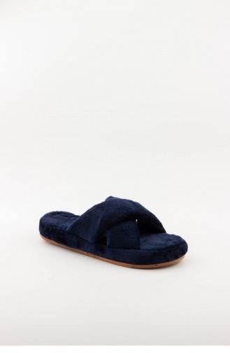 Navy Blue Woman home slippers 3576.MM LACIVERT