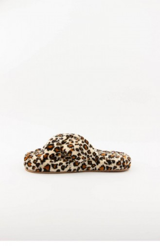 Brown Woman home slippers 3576.MM LEOPAR