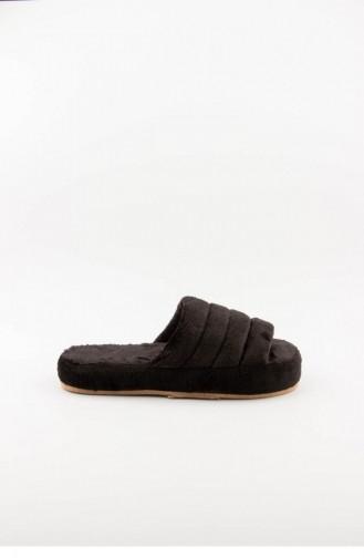 Black Woman home slippers 3577.MM SIYAH