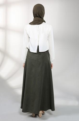 Khaki Skirt 6487-04