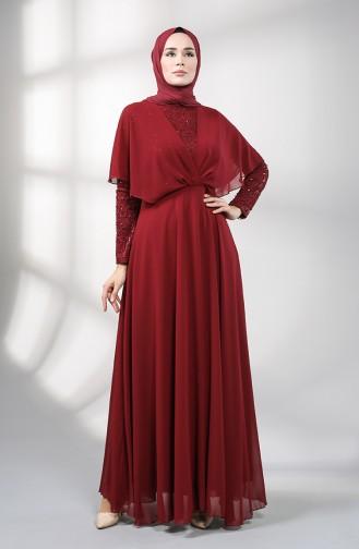 Habillé Hijab Bordeaux 5399-02