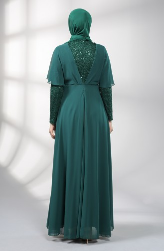 Habillé Hijab Vert emeraude 5399-05