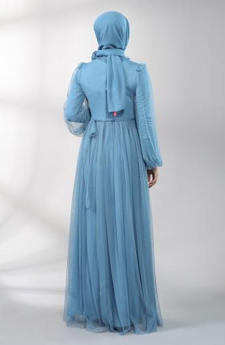 Indigo Hijab-Abendkleider 5400-04