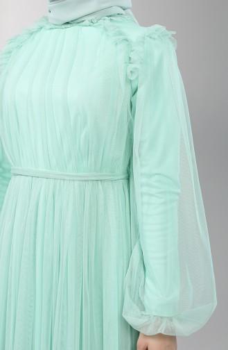 Minzengrün Hijab-Abendkleider 5400-06