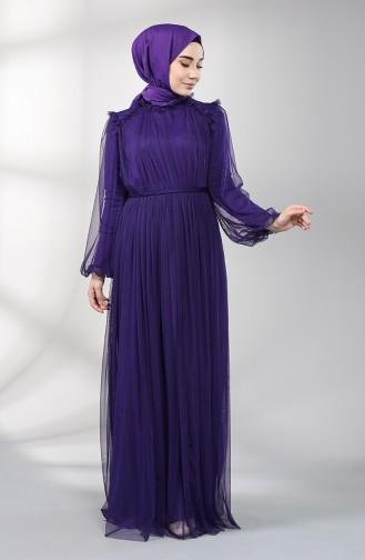 Lila Hijab-Abendkleider 5400-07