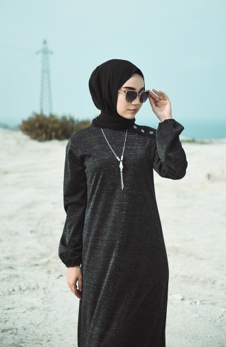 Robe Hijab Noir 1001-01