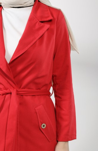Red Trench Coats Models 1236-07