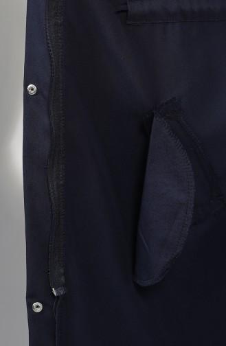 Navy Blue Trench Coats Models 1259-06