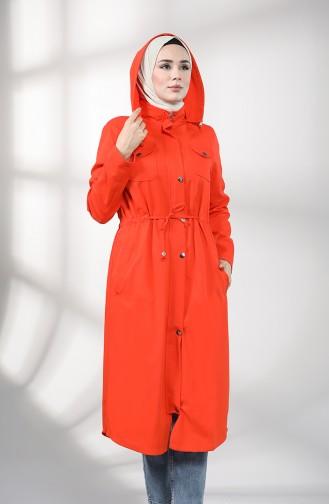 Trench Coat Orange 1259-09