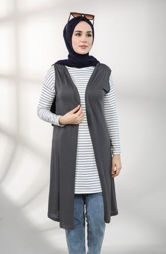 Anthrazit Strickjacke 8127-01