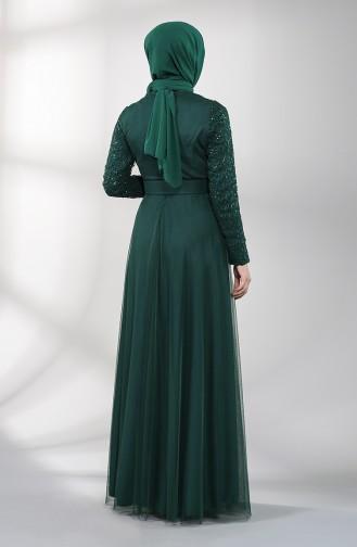 Smaragdgrün Hijab-Abendkleider 5353-06